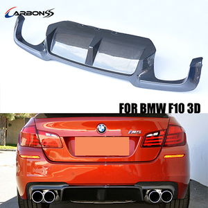 3D type rear body kit F10 M5 carbon fiber bumper spoiler diffuser for BMW 2012-2015