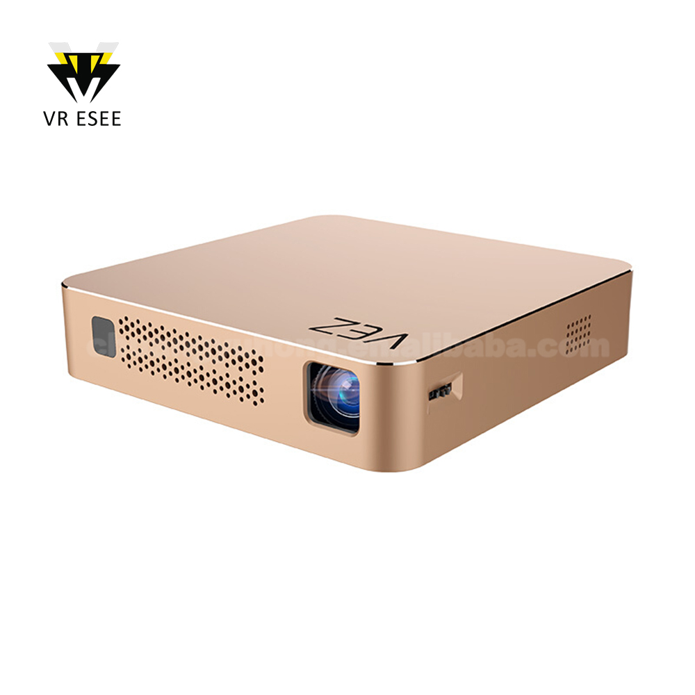 HD Android 4.4 DLP Projector + Smart TV Box 1G / 8GB 2 in 1 Multifunctional Projection Machine Miracast 2.4G / 5G Band wifi