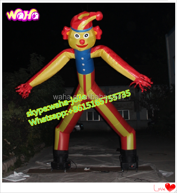 6M/19ft Inflatable clown dancer/sky dancer with 2 legs for event A066