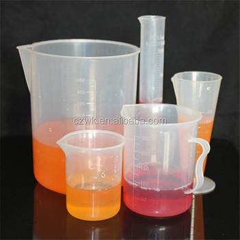Plastic Measuring Cylinder Lab Equipment Pp Graduated
