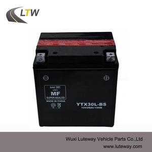 YTX30L-BS motorcycle MF battery Maintenance free Motorcycle battery