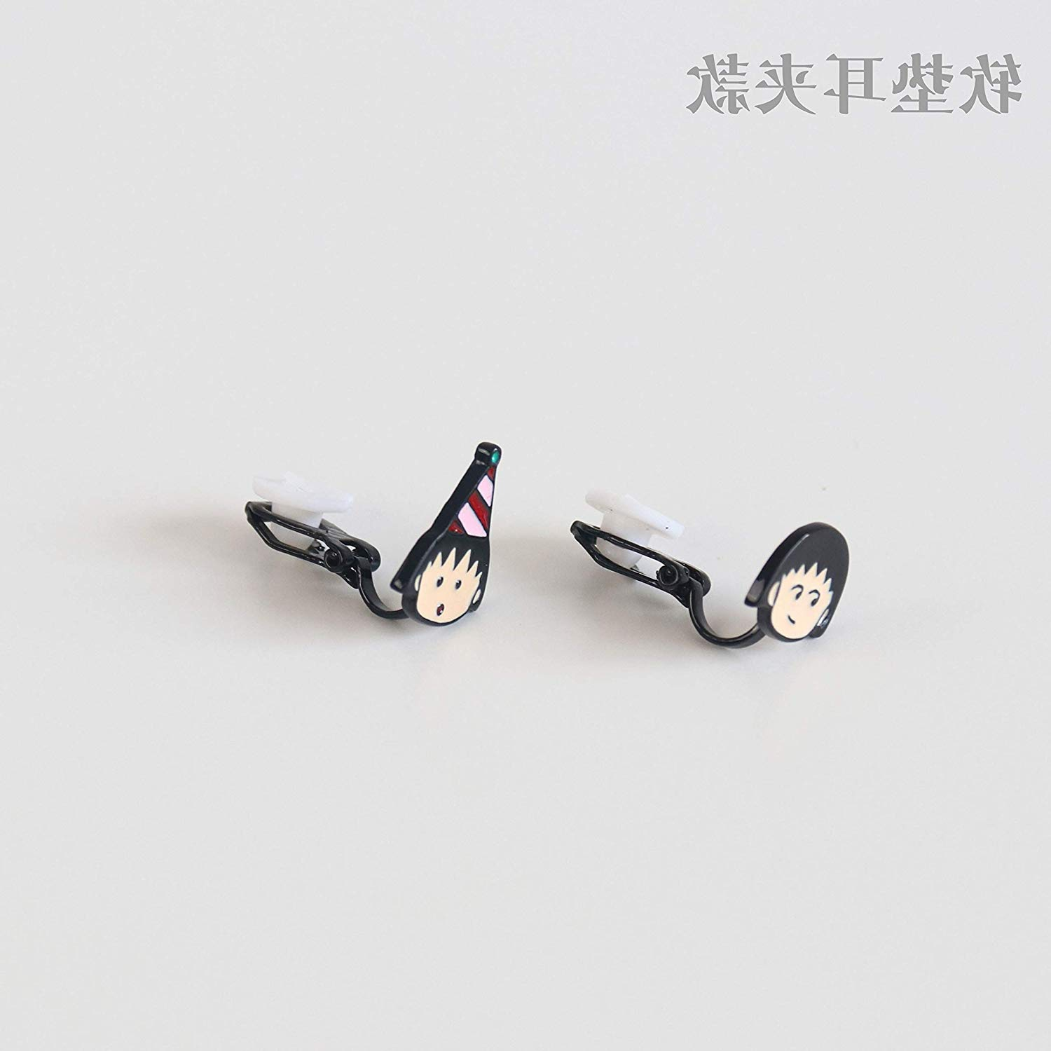 2018 Cute Chibi Maruko Earrings Earring Ear Dangler Clip Non Pierced Cartoon Creative Student Ornaments (no Pierced Ear Clip Models []