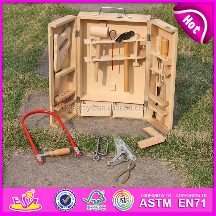 2015 Wholesale Kid Wooden Tool Kit Toydiy Cheap Wooden Toy Tool Toyhot Sale Funny Play Wooden Intelligence Game Set W03d023 A1 Buy Wooden Tool