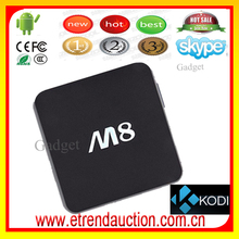 Customized Logo kodi M8 m8 ott rj45 Android4.4 OS 4K wholesale android smart tv Box