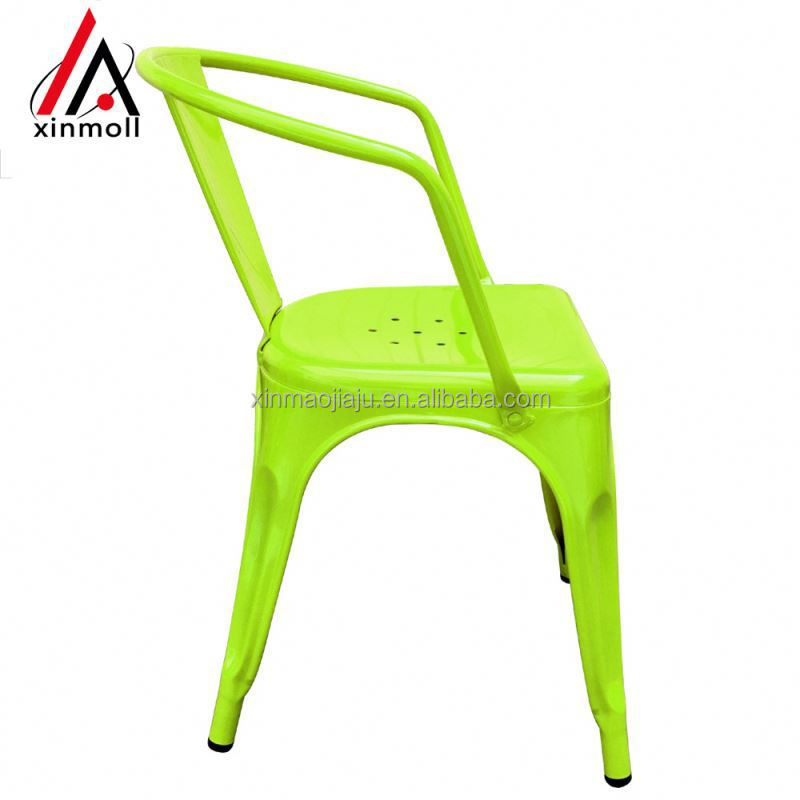High quality machine grade polish wrought iron chairs outdoor gold supplier