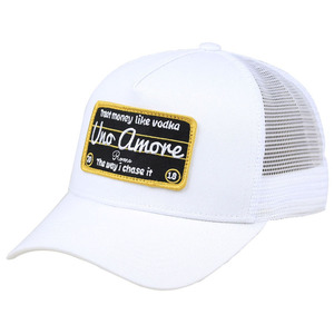 Hat parts 100% cotton 5 panel baseball mesh custom cap white wth soft fabric