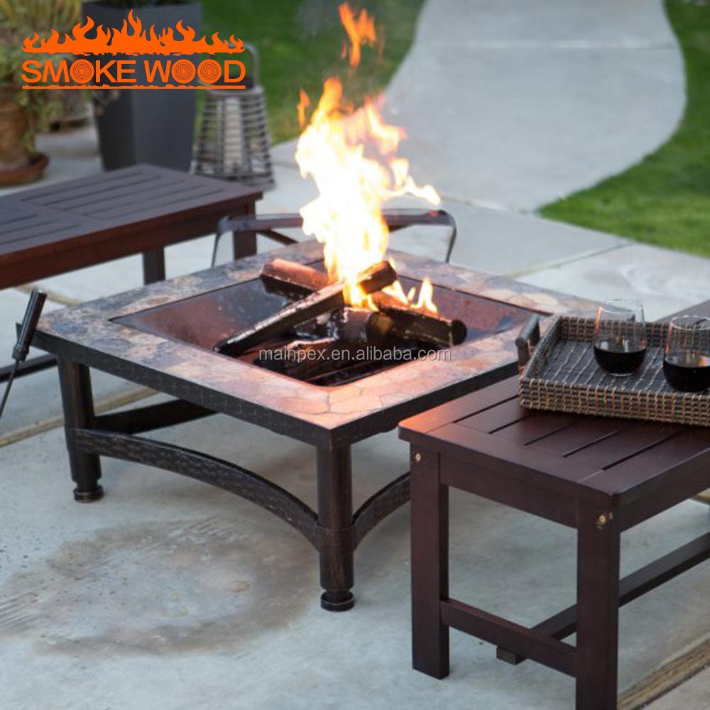 hochwertigen terrasse stahlrahmen garten feuerstelle/brazier tisch