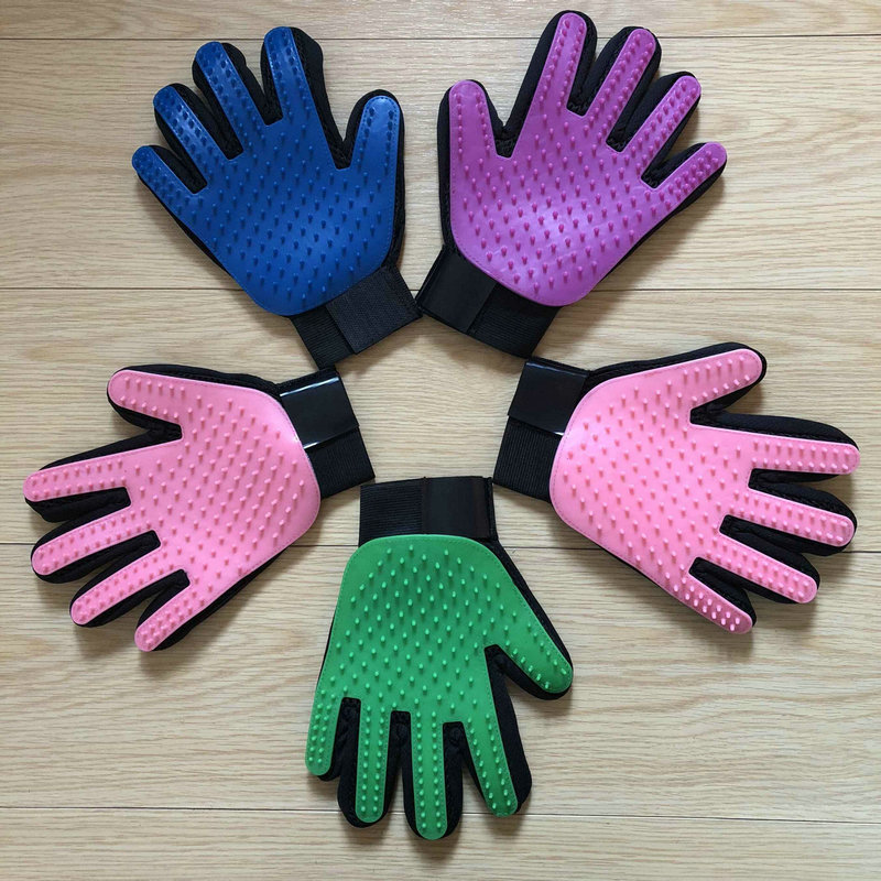 Dog hair pet grooming glove cat massage dog grooming brush glove