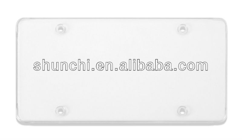 Tuf-Shield Clear Flat License Plate Cover