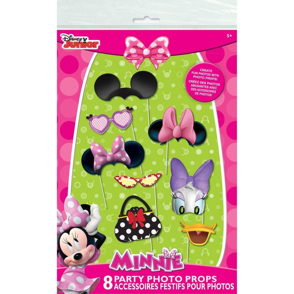 Minnie Mouse Photo Booth Props, 8 Pieces