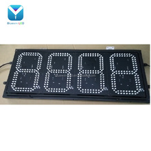 RF remote control 8inch 7 segment 4 digits led numeric display electronic gas station fuel price sign