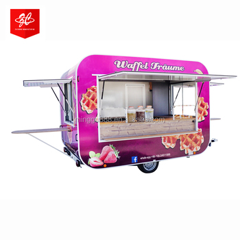 Street food trailers,Square Mobile Food Cart ,Snack food cart