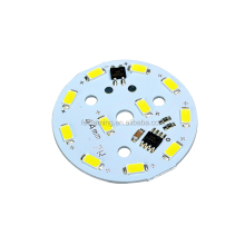 Round Square White 5730 SMD 5w 230v Led Lamp Circuit 220v Aluminum Single Sided Driverless Led Pcb Supplier