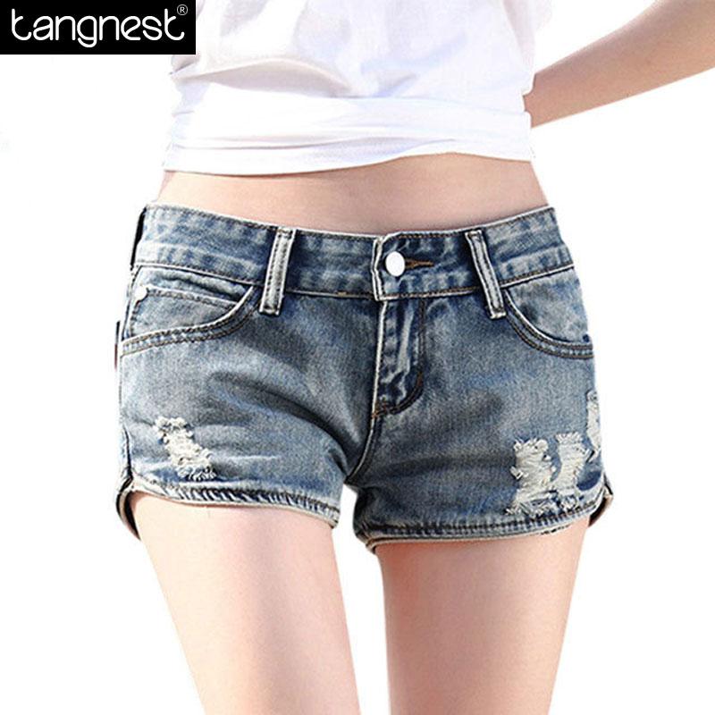 Compra Denim mini shorts online al por mayor de China
