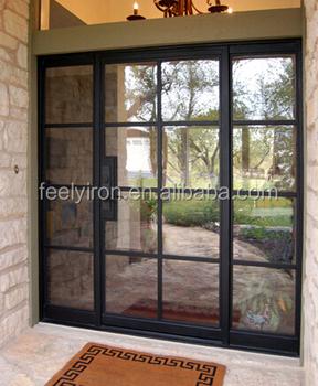 Simple Style Modern Steel Door Folding Door With Window SD 018
