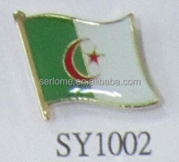 Low Price Algeria Flag Badge From Manufacturer