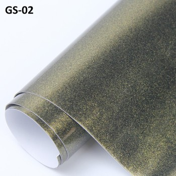ROHS Certificate 1.52*20m 3layers air free bubbles gold and black glossy metallic pearl Car wrapping Vinyl sticker