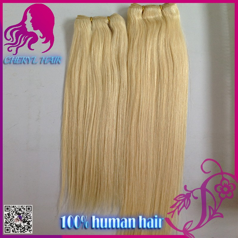 Beautiful Blonde #613 Human Hair Extension 100 Brazilian Remy ...