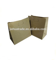 Fancy designed Die cut handle brown kraft paper bag for gift packaging