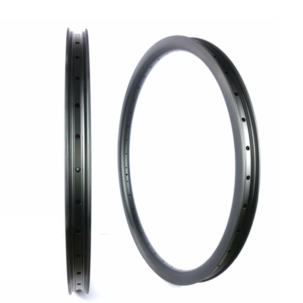 MTB 27.5ER Carbon Rim Hookless 40mm Width Cycling Mountain Bike 29ER Carbon Rims