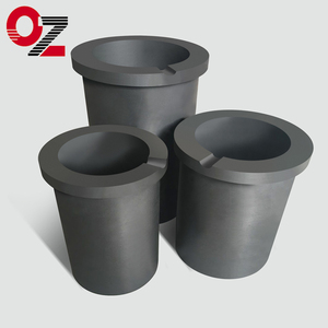 High density foundry graphite crucible for furnace