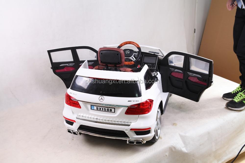 Mercedes benz lizenz fahrt auf spielzeugauto gl63 amg for Mercedes benz ride on toy car