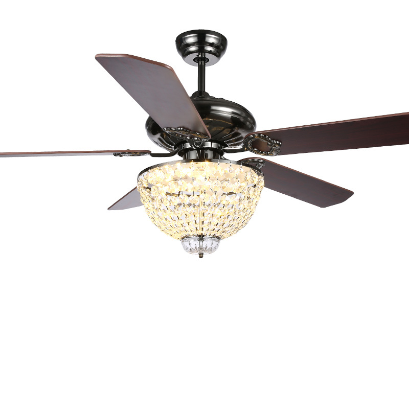 Crystal Ceiling Fan Light: Gale Crystal Chandeliers LED52 Inch Simple And Stylish