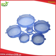 High Quality Stretch Silicone Lids 6pcs set Silicone Storage Container Lids