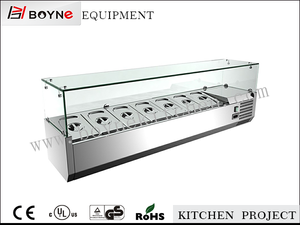 Bench top salad bar cabinet mini salad cooling chamber / food cooling table