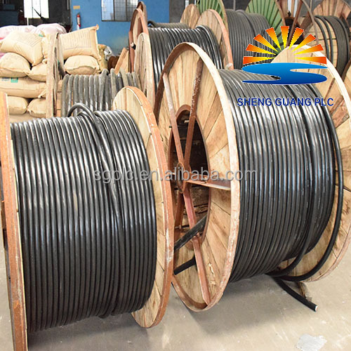 PVC sheath unarmoured heat resistant insulation copper electrical cable drum