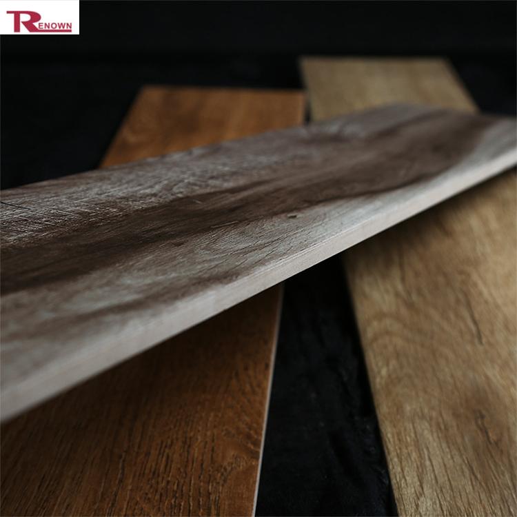 Muur en vloertegels/bruin houten vloertegels rechthoekige hout patroon tegel