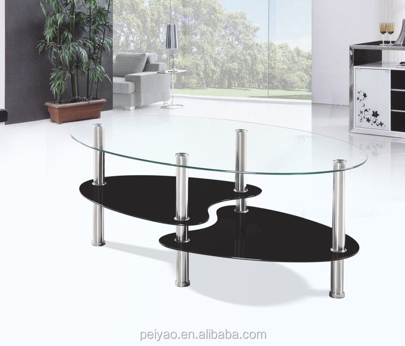 Hot selling glass coffee table 3 layers