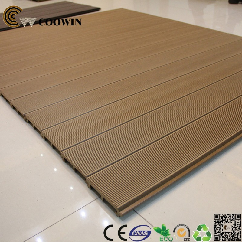 Outdoor wood plastic wall covering