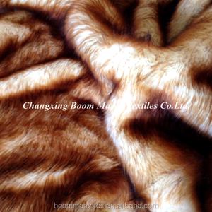 warm acrylic and polyester faux mink fur fabric for shoes garments toys hometextiles