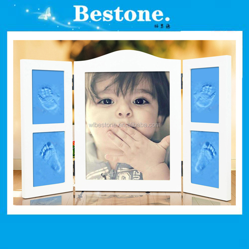 Hot Baby gift - New Style Baby Foot Hand Print Photo Frame