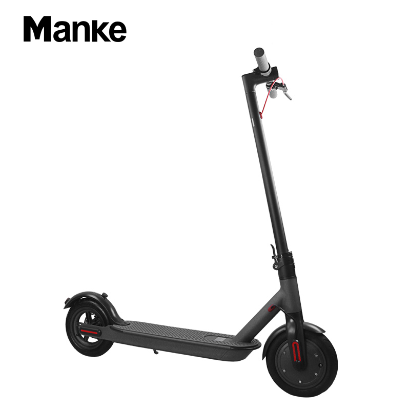 Manke MK083 Factory Directly Selling Xiaomi Version 36V 8.5 inch Electric Folding Kick Scooter for Adults, Black;white and customized color