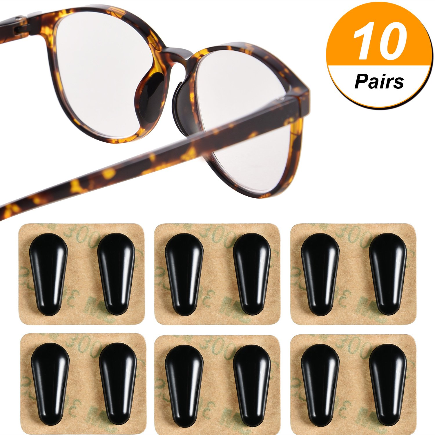Learned Free Shipping Glasses Nose Pads Case Eyeglass Nose Pads Kit Including 15 Kinds Of Silicone Nose Pads Apparel Accessories