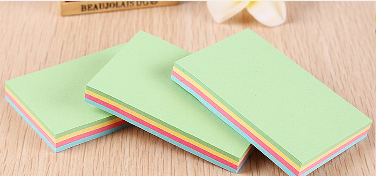 Valentine shapSquare Color sticky notes sticky N times Bright color easy to carry apply to school and office factory manufacture