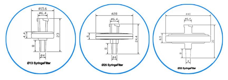 Cheap 4mm Barbed Sterile Pes Syringe Filter Pore Size With 0 65um 22um -  Buy Sterile Syringe Filter 22um,Syringe Filter 0 65um,Syringe Filter Pore