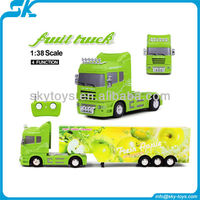 !New 1:38 fruit truck remote car rc semi truck