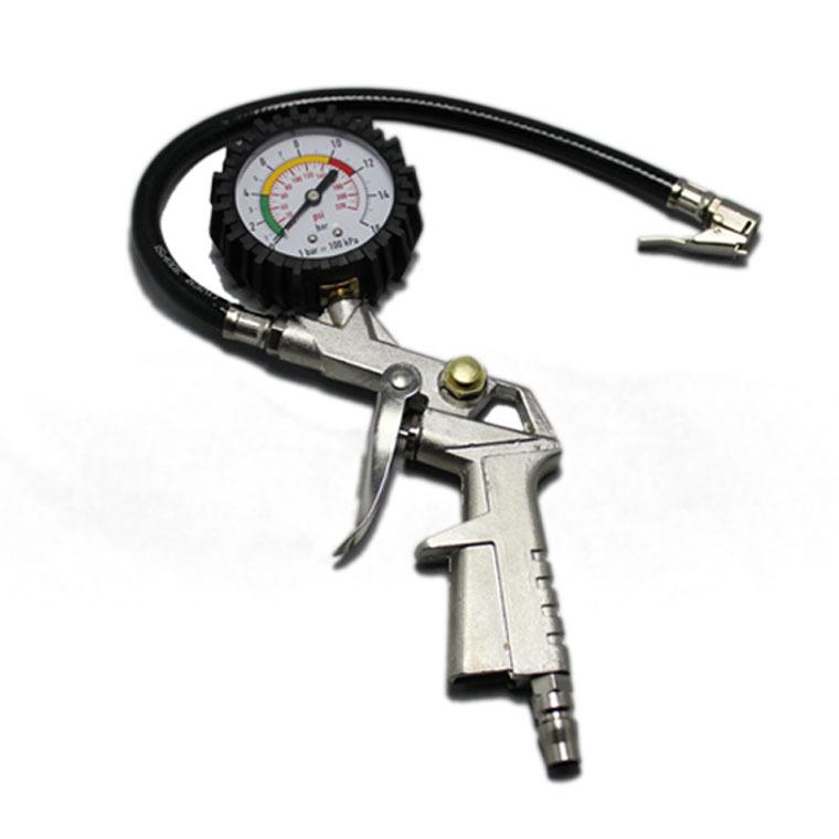 Многофункциональный автомобиль давления в шинах пистолет пневматический пистолет с развеселить барометр измерения давления в шинах инструмент