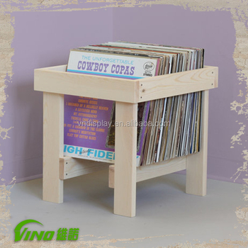Solid Wood Album Crate , Vinly Record Storage Crate , Record Holder