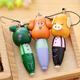 decorative cartoon animal shaped screen touch stylus wooden ballpoint pen