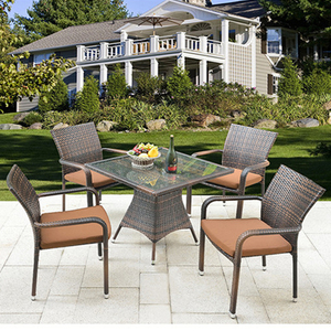 Magnetic floating outdoor furniture and outdoor furniture rattan dining set