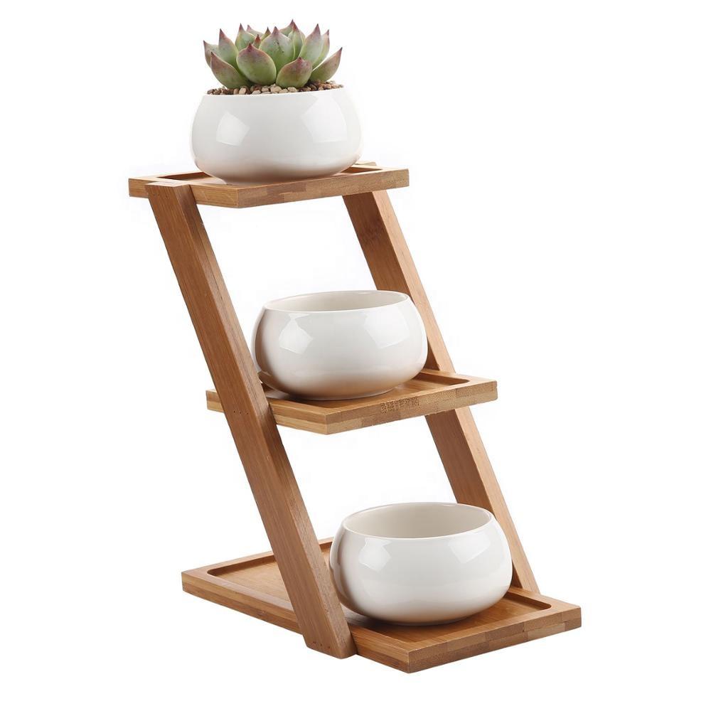 De bambú bandeja soporte de contenedor para hogar Oficina Decoración paquete