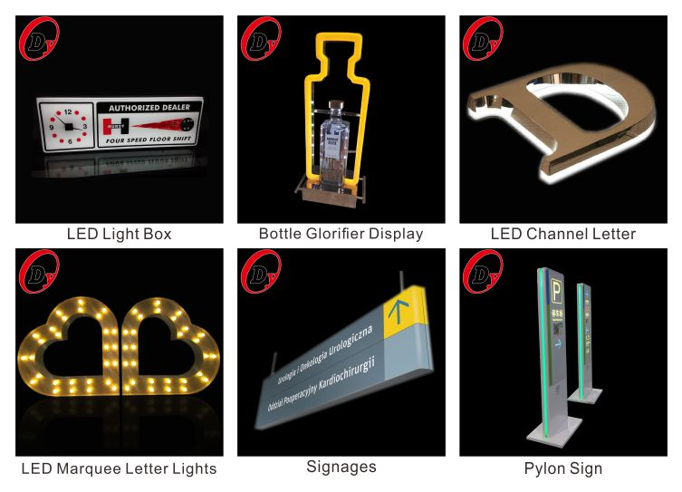 melhor venda de publicidade letras de néon fábrica custom made levou acrílico rosa sinal de néon com caixa transparente