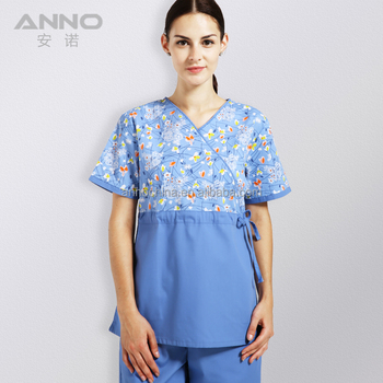 8b859441e05 Anno Maternity Wrap Nurse Scrub Top - Buy Maternity Scrub Top ...