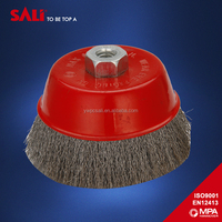 "european standard 7"" circular wire brush for cleaning rust"