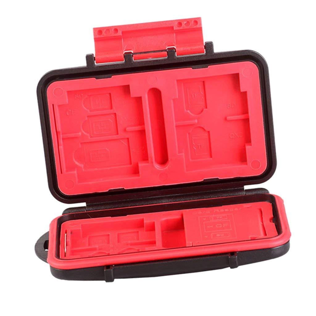 MonkeyJack Waterproof Memory Card Reader w/ 18 Slots Memory Card Holder Case For SD/TF/ CF /SIM
