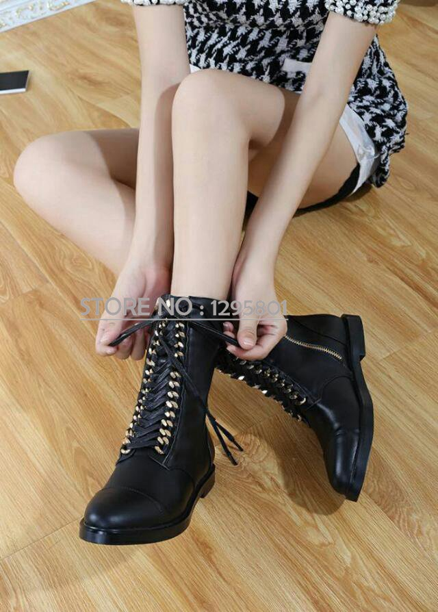 091f25a35ce0 Get Quotations · Women s sexy shoes comfortable and stylish leather genuine  leather Women ankle boots Army combat boots motorcycle